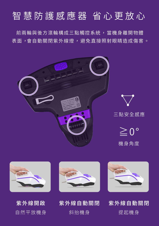 小紫智慧防護感應器,三點觸控安全感應使用更安心